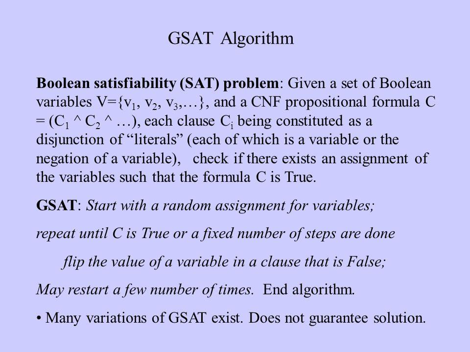 GSAT Algorithm