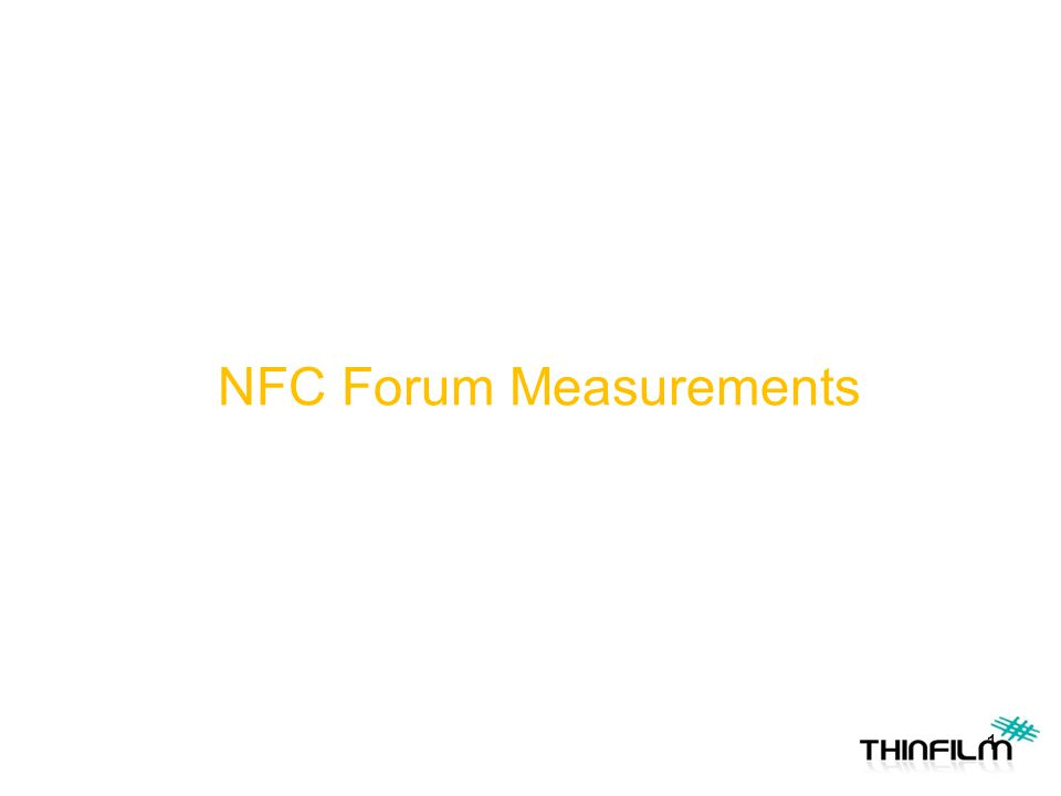 NFC Forum Measurements