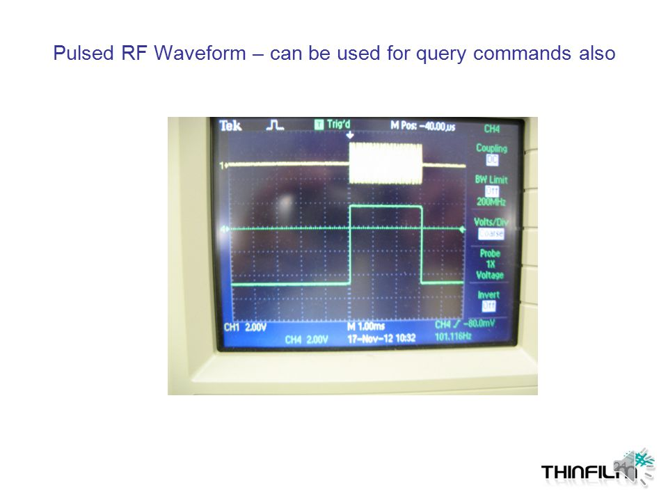 Pulsed RF Waveform – can be used for query commands also