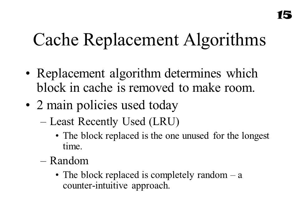 Cache Replacement Algorithms