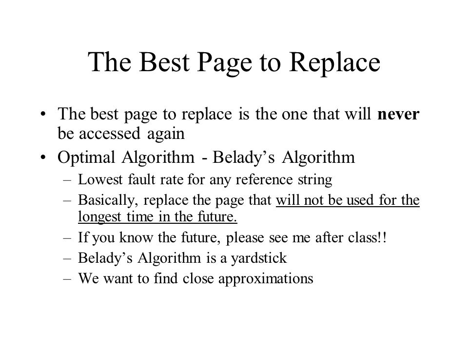The Best Page to Replace
