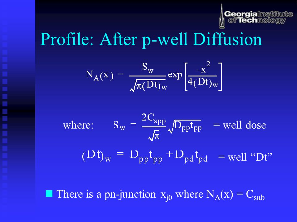 Profile: After p-well Diffusion