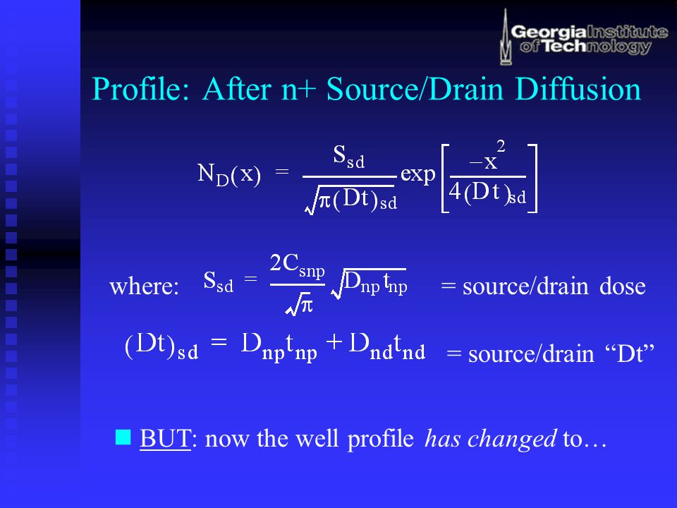 Profile: After n+ Source/Drain Diffusion