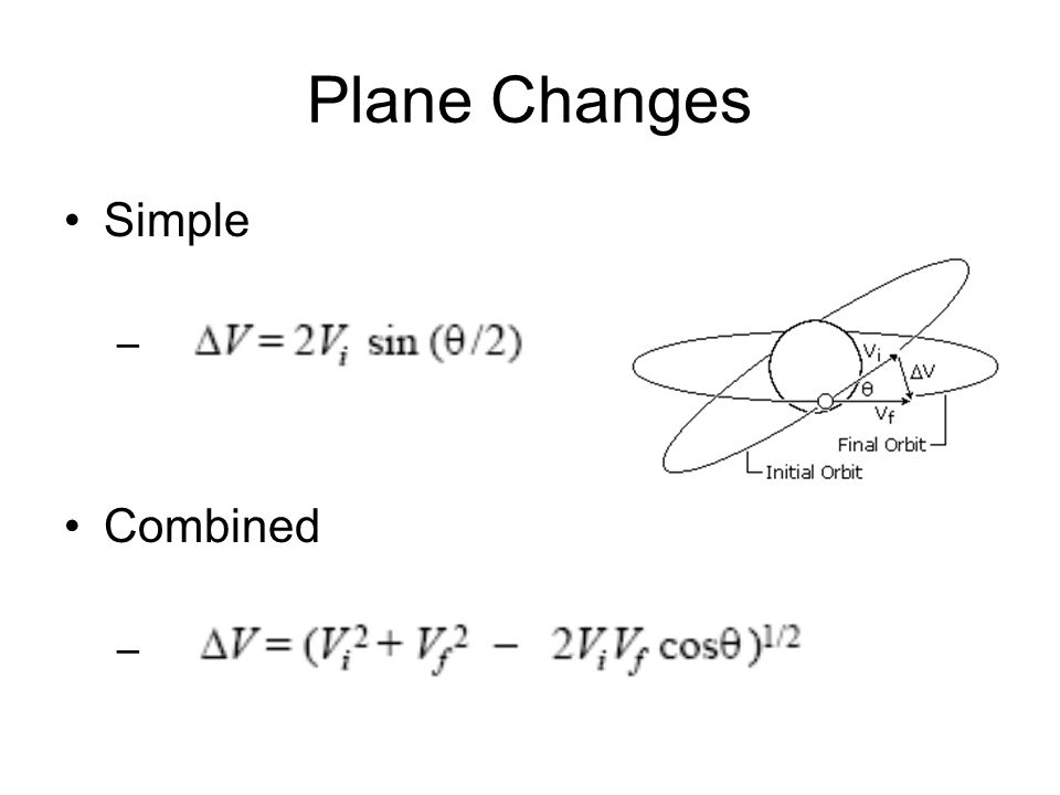 Plane Changes Simple Combined