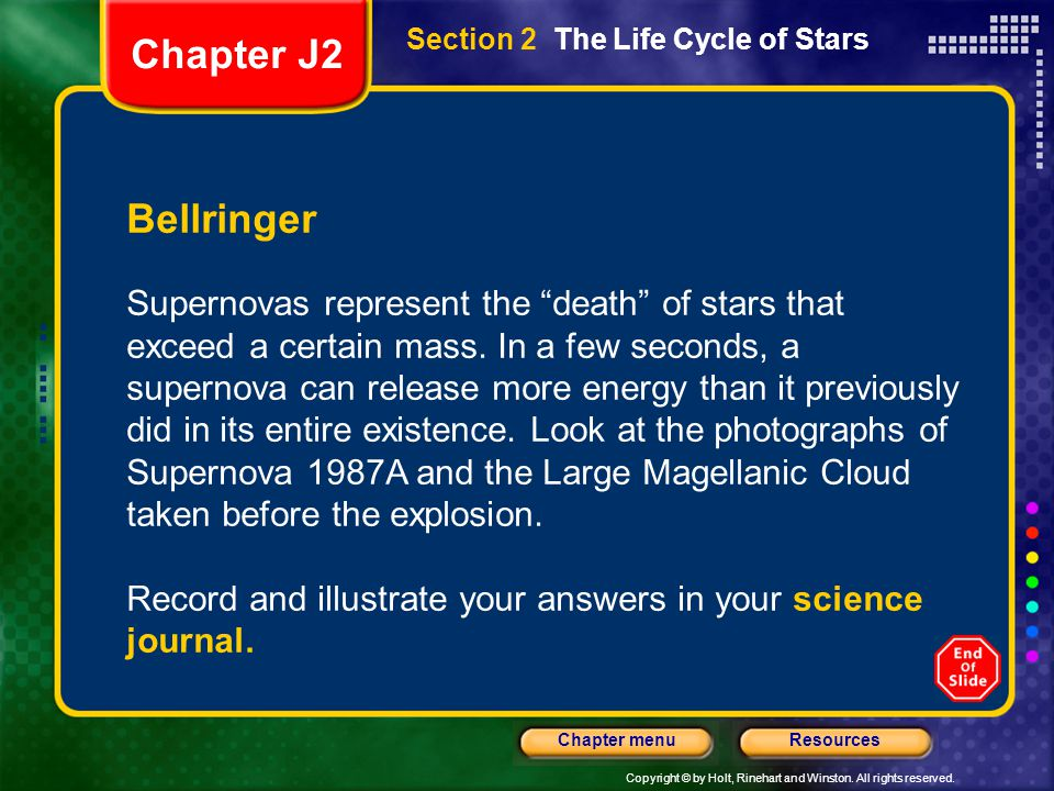 Section 2 The Life Cycle of Stars