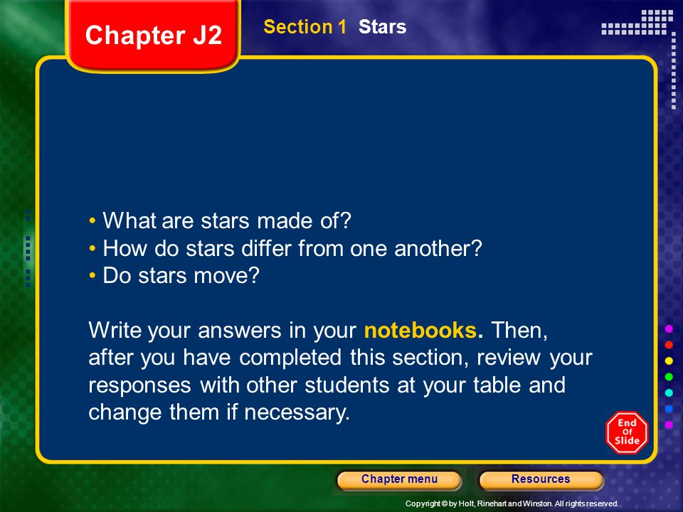 Chapter J2 What are stars made of