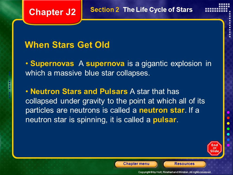 Chapter J2 When Stars Get Old