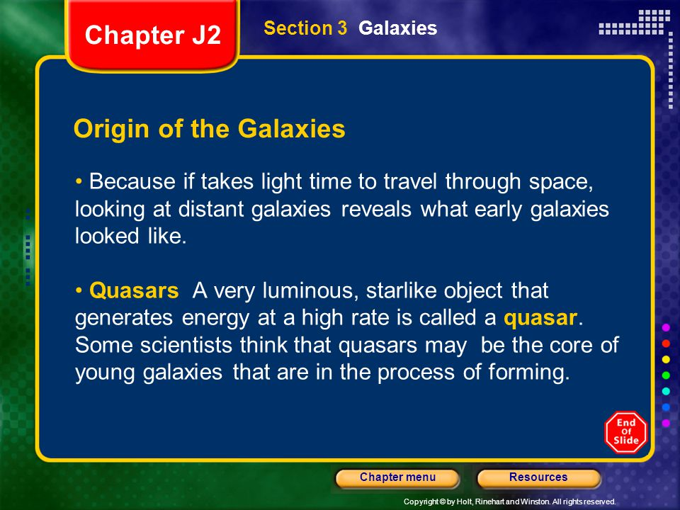 Chapter J2 Origin of the Galaxies