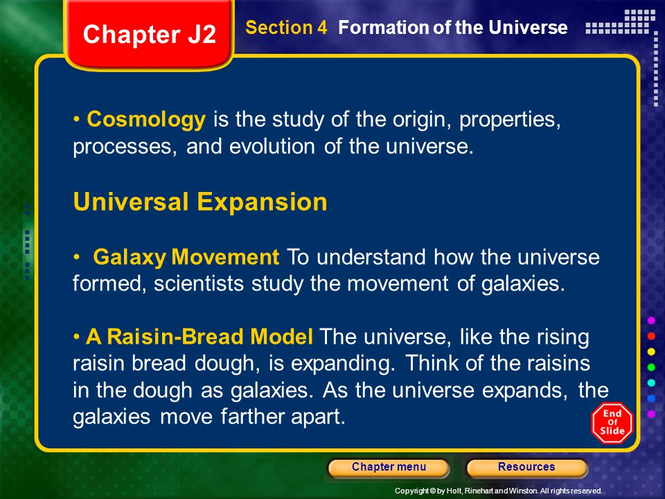 Chapter J2 Universal Expansion