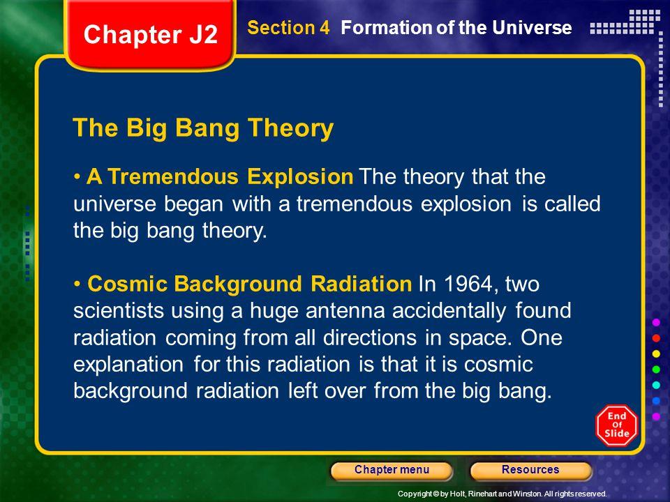 Chapter J2 The Big Bang Theory