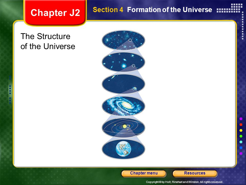 Chapter J2 The Structure of the Universe