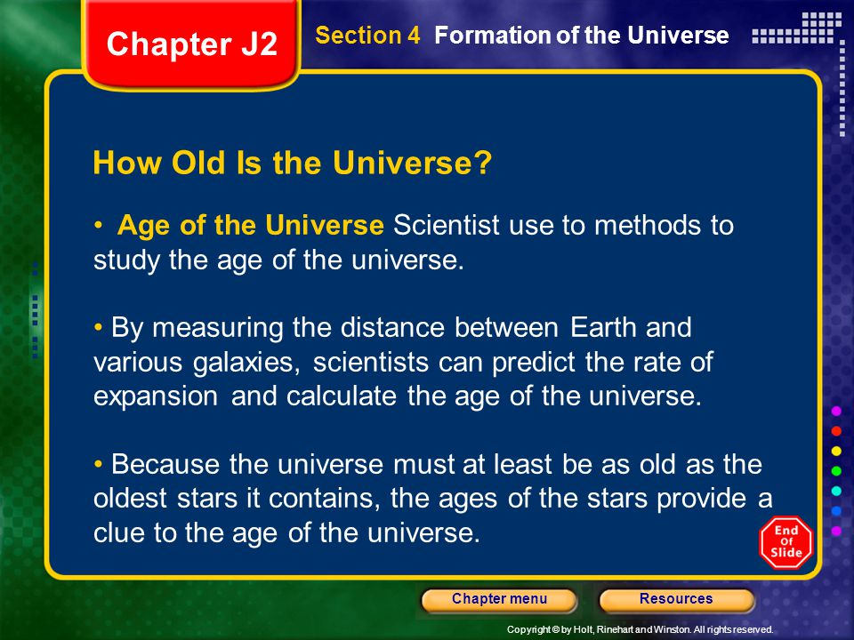 Chapter J2 How Old Is the Universe