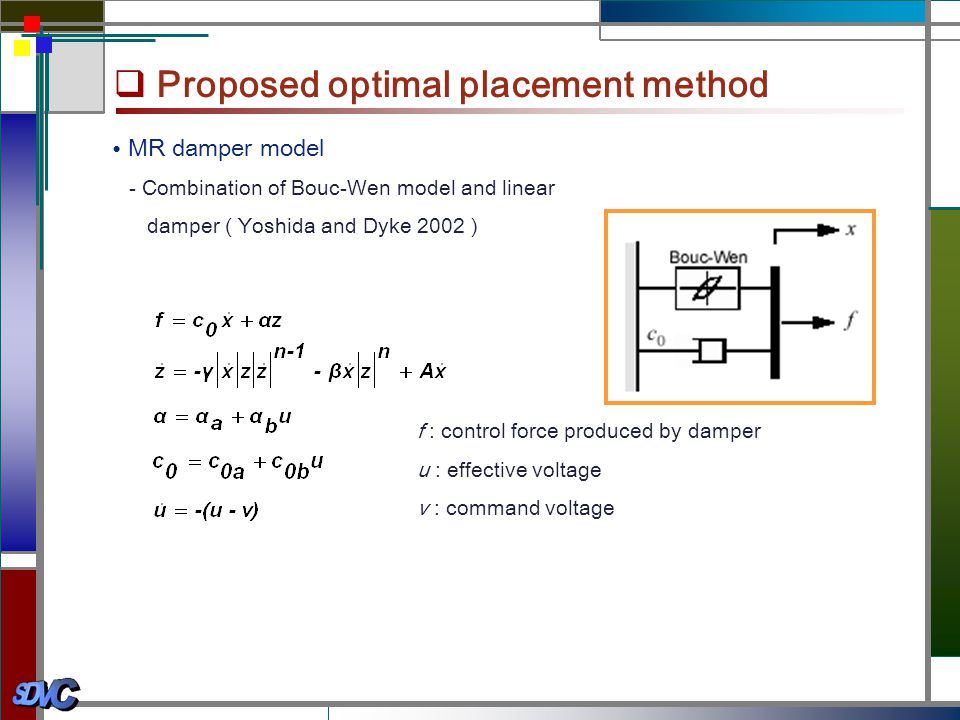 Proposed optimal placement method