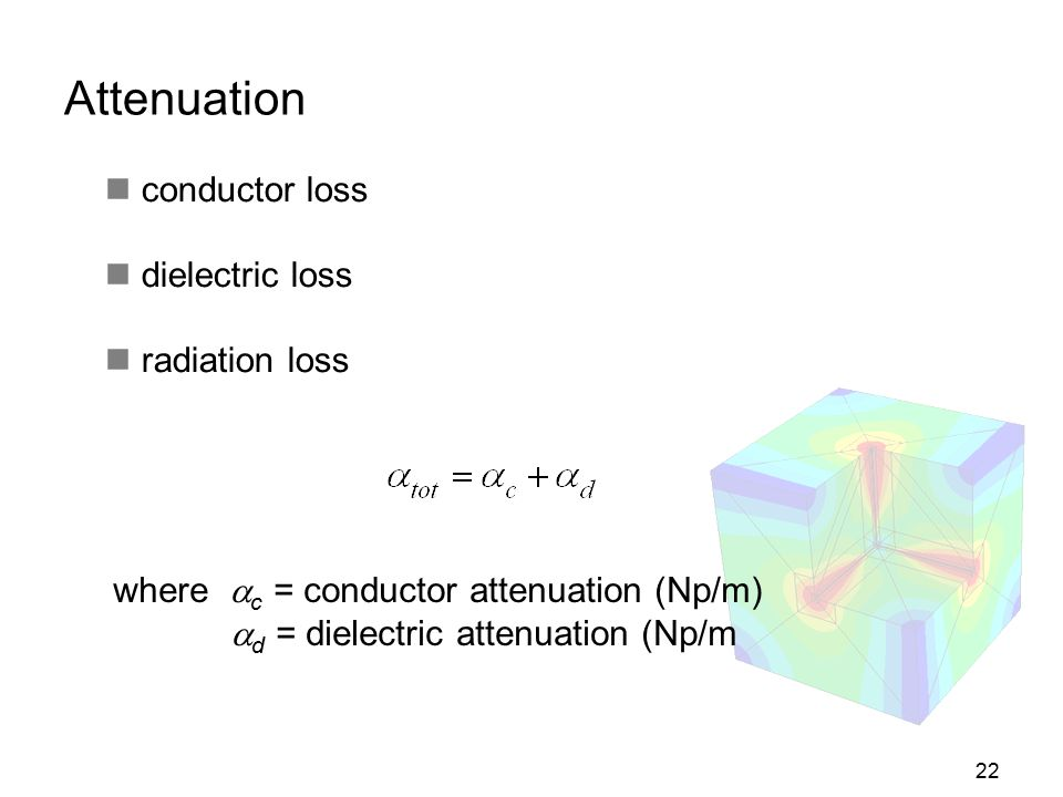 Attenuation conductor loss dielectric loss radiation loss