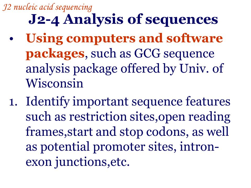 J2-4 Analysis of sequences