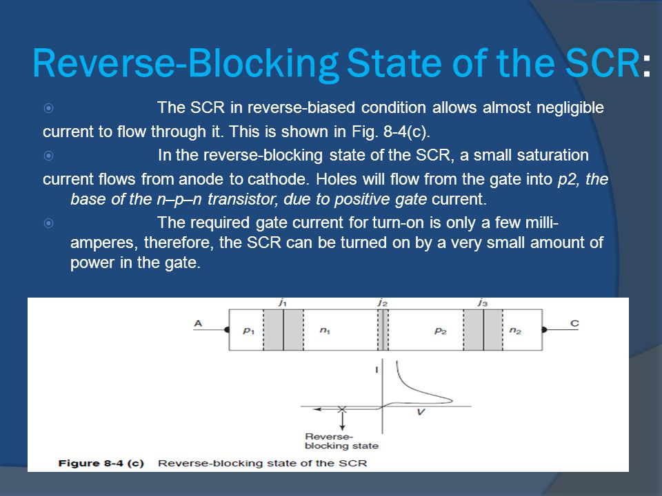 Reverse-Blocking State of the SCR: