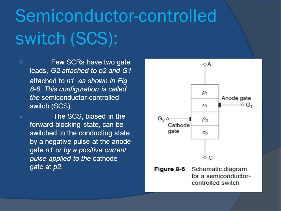 Semiconductor-controlled switch (SCS):