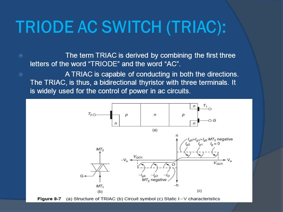 TRIODE AC SWITCH (TRIAC):