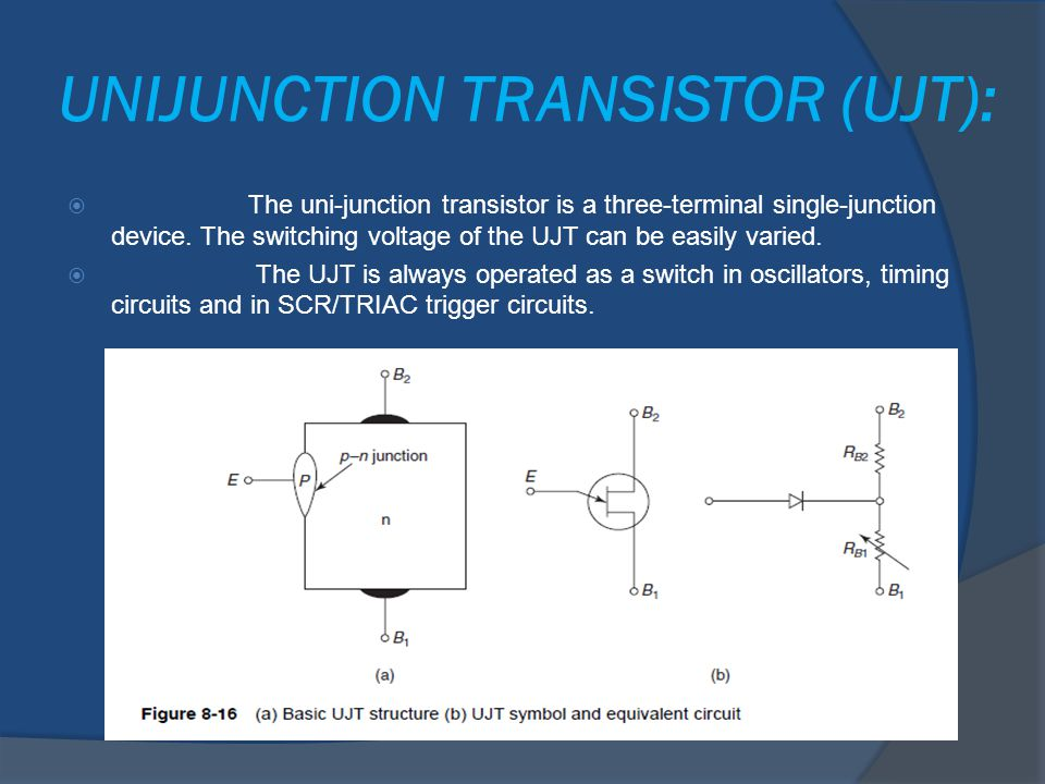 UNIJUNCTION TRANSISTOR (UJT):