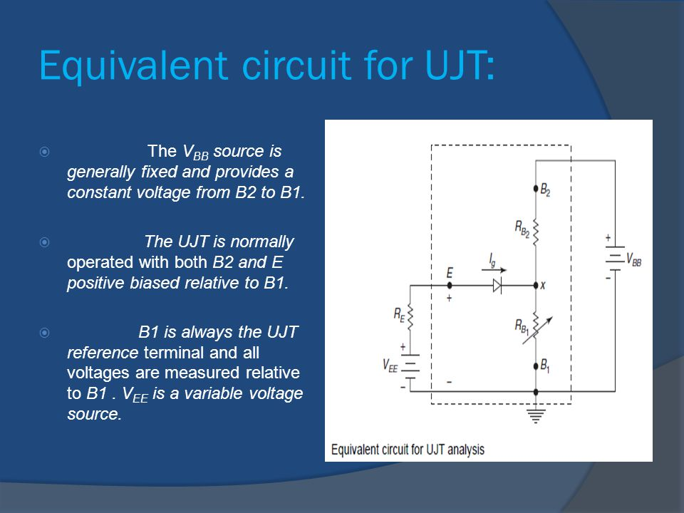 Equivalent circuit for UJT: