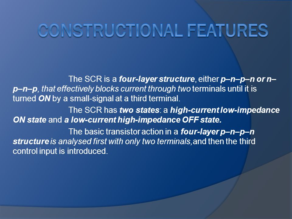 Constructional Features