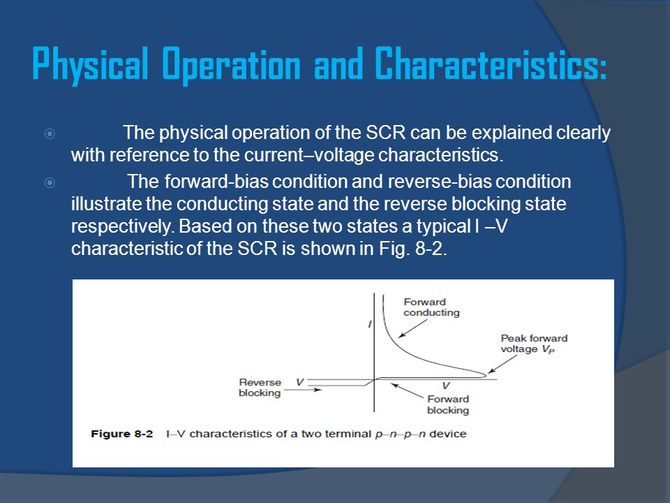 Physical Operation and Characteristics: