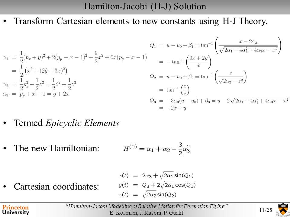 Hamilton-Jacobi (H-J) Solution