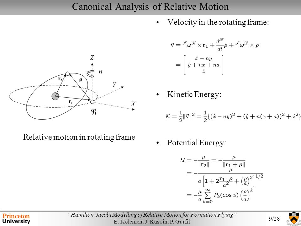 Canonical Analysis of Relative Motion