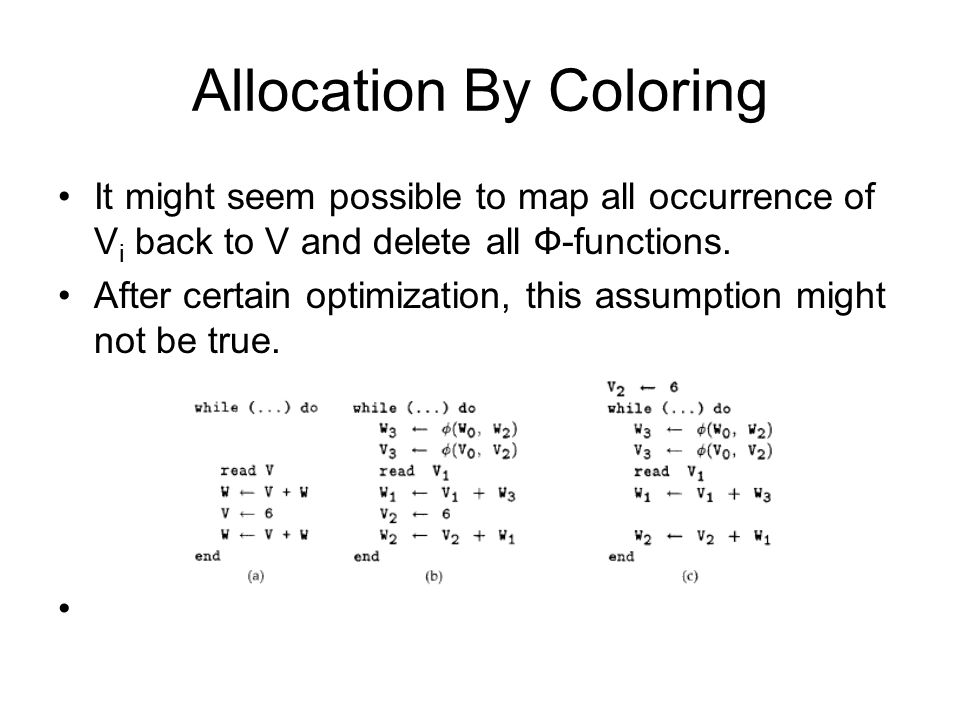 Allocation By Coloring