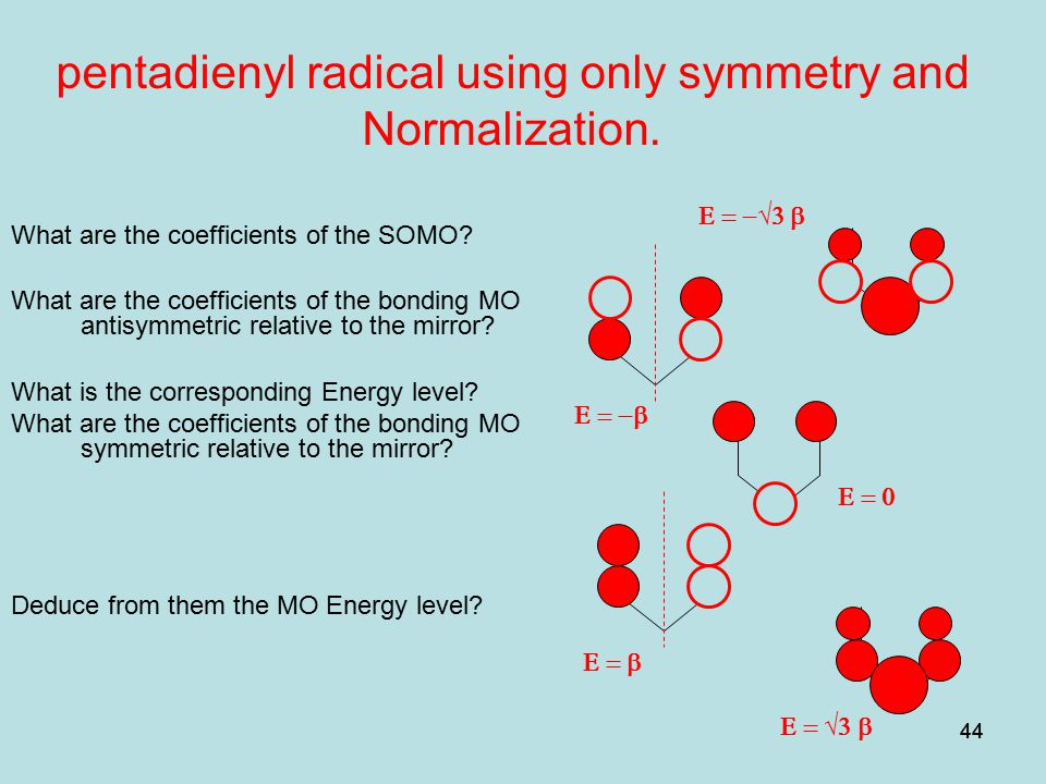 pentadienyl radical using only symmetry and