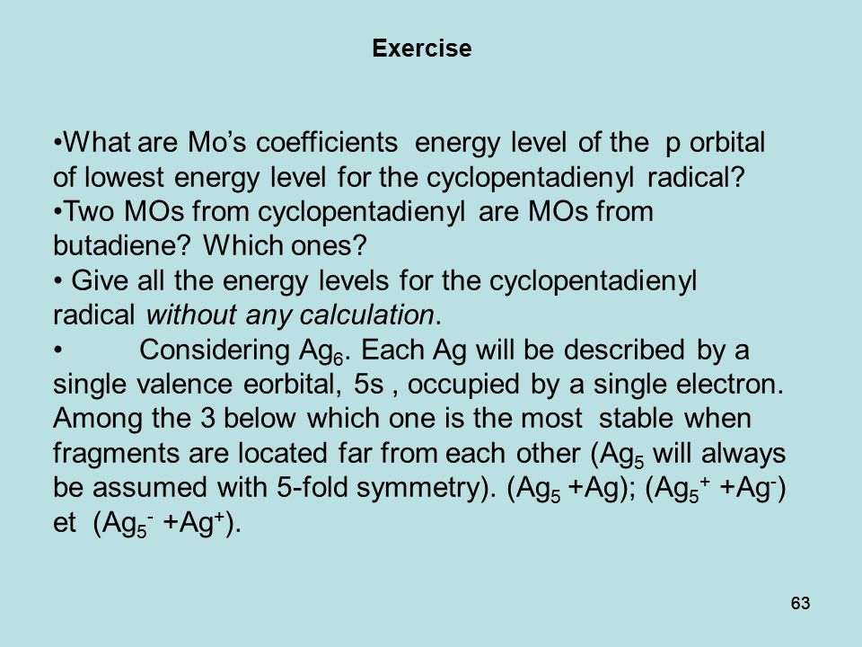 Two MOs from cyclopentadienyl are MOs from butadiene Which ones