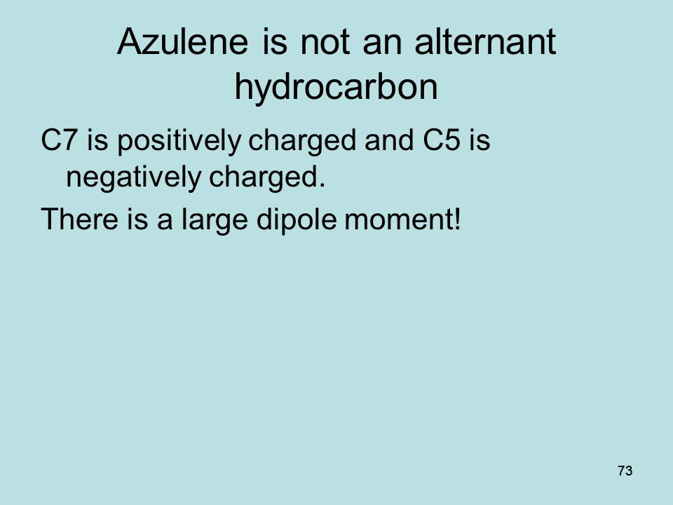 Azulene is not an alternant hydrocarbon