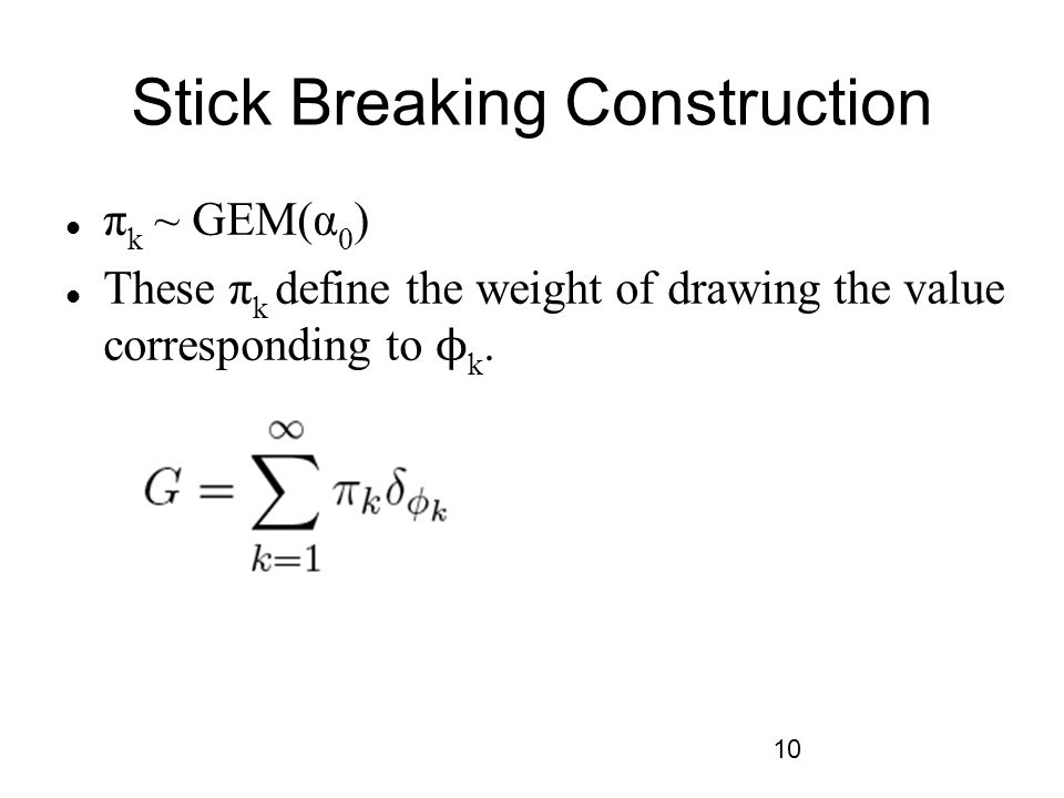 Stick Breaking Construction