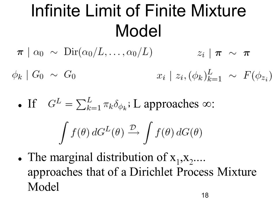 Infinite Limit of Finite Mixture Model