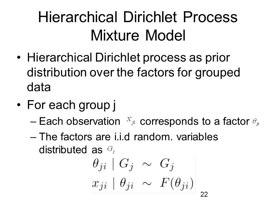 Hierarchical Dirichlet Process Mixture Model