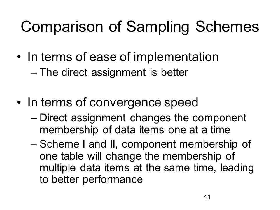 Comparison of Sampling Schemes