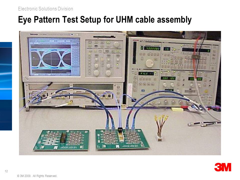 Eye Pattern Test Setup for UHM cable assembly