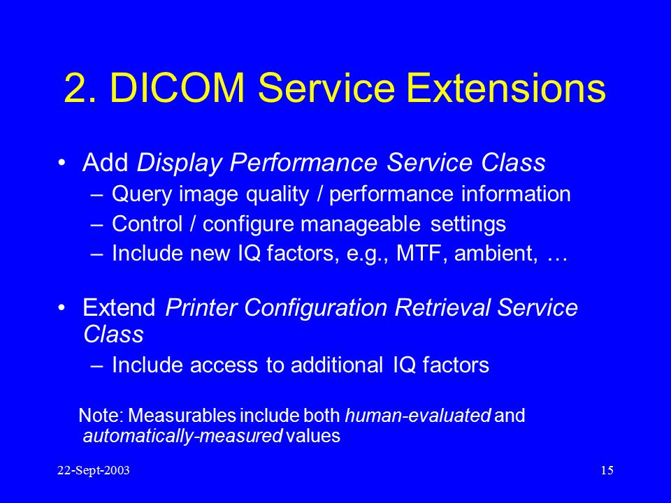 2. DICOM Service Extensions