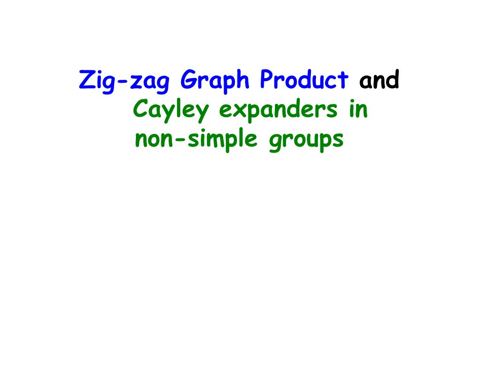 Zig-zag Graph Product and Cayley expanders in non-simple groups