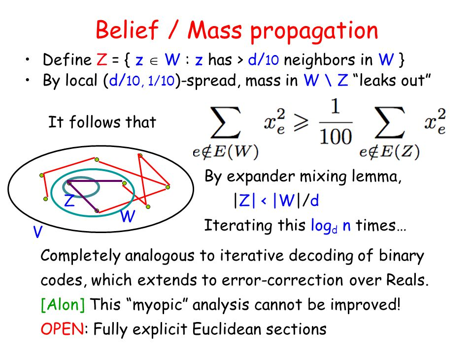 Belief / Mass propagation
