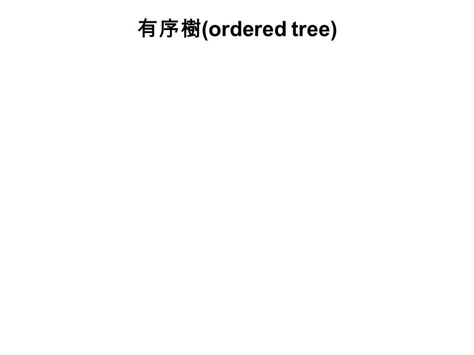 有序樹(ordered tree)