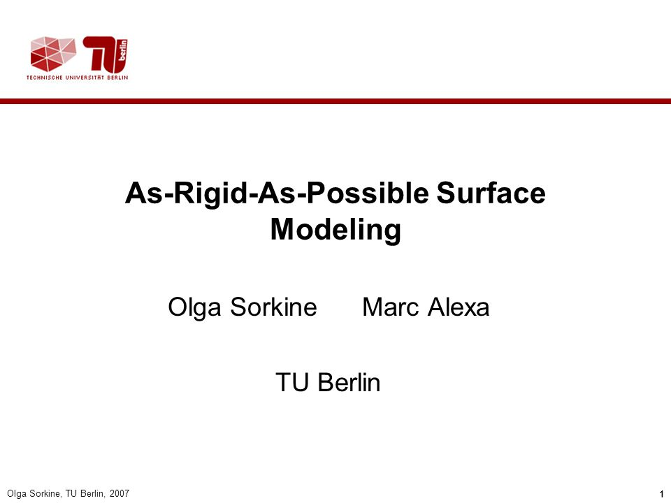 As-Rigid-As-Possible Surface Modeling