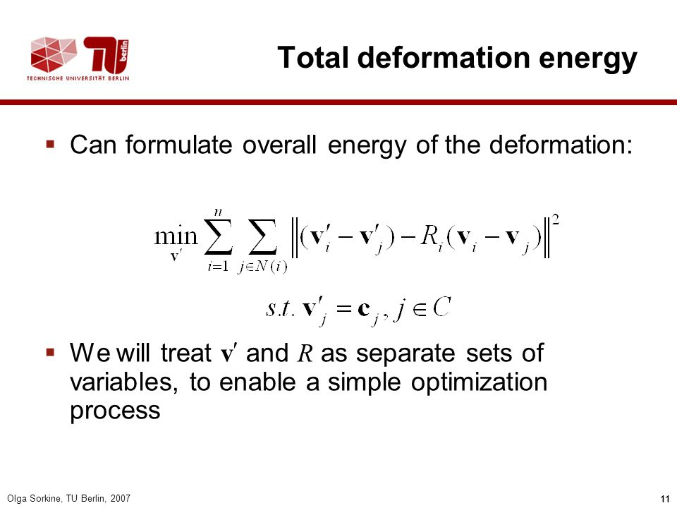 Total deformation energy