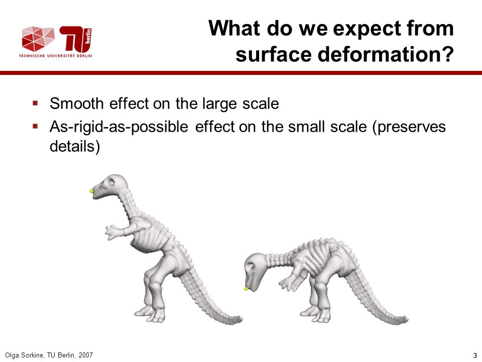 What do we expect from surface deformation
