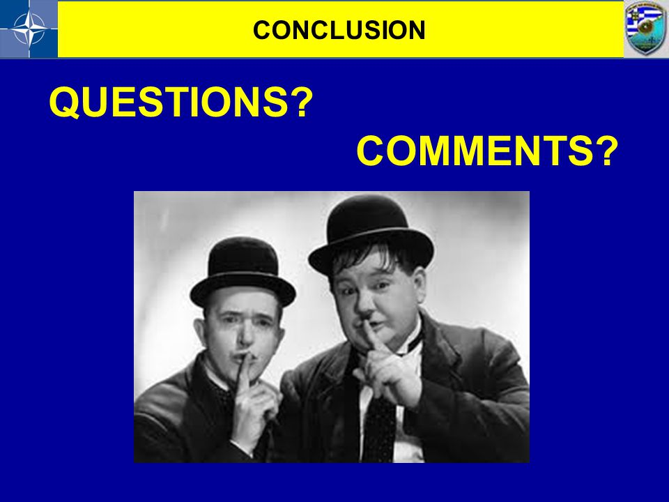 CONCLUSION QUESTIONS COMMENTS