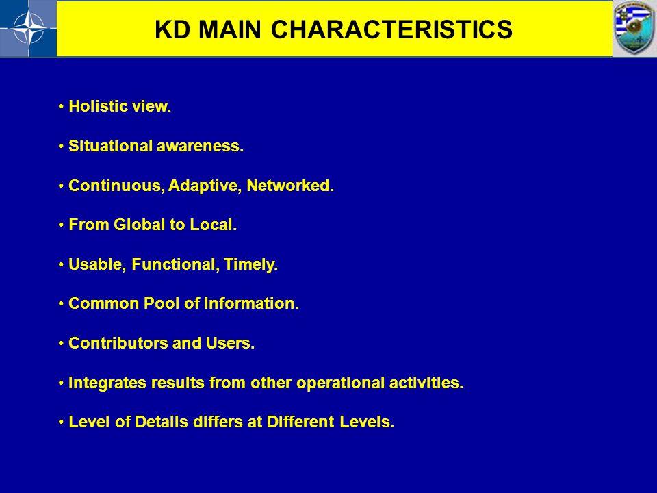 KD MAIN CHARACTERISTICS