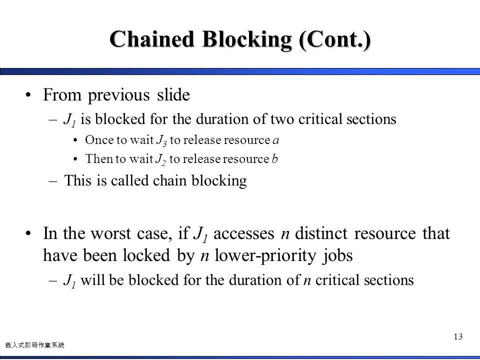 Chained Blocking (Cont.)