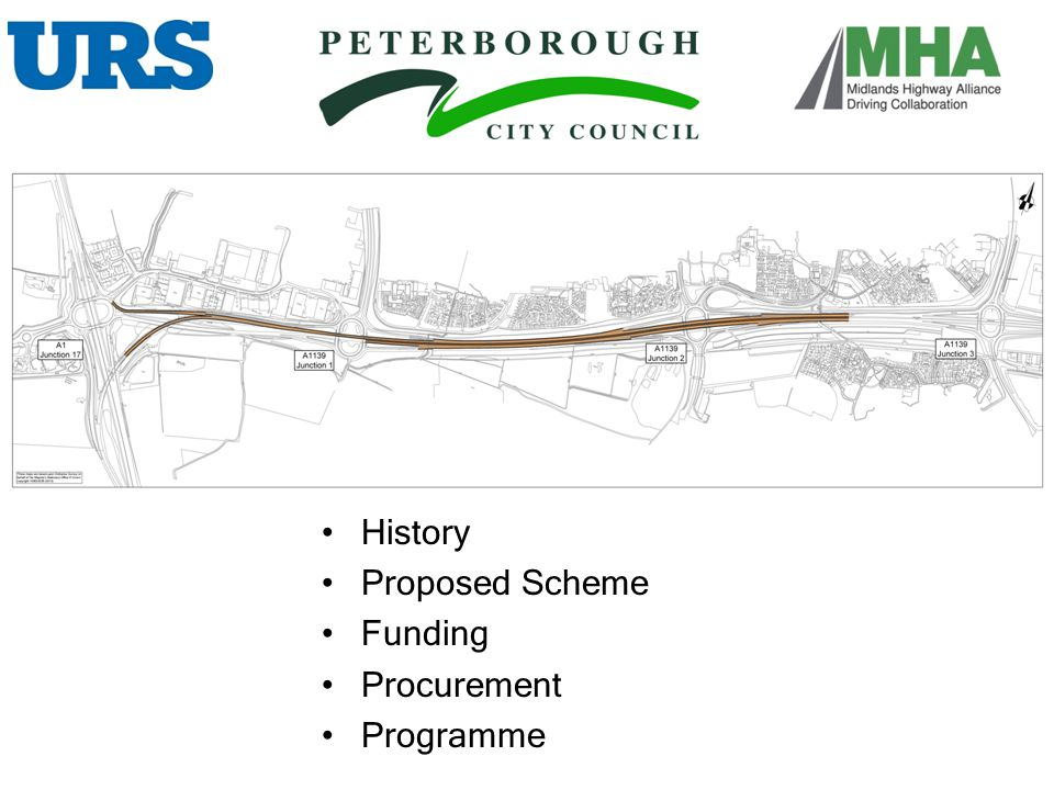 History Proposed Scheme Funding Procurement Programme HISTORY :