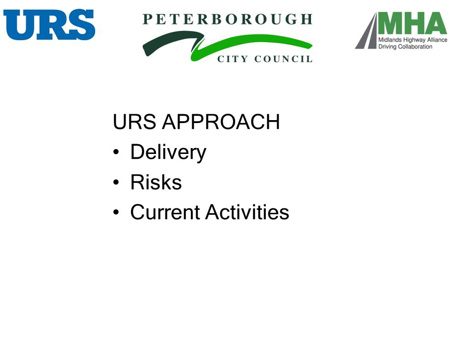 URS APPROACH Delivery Risks Current Activities DELIVERY :