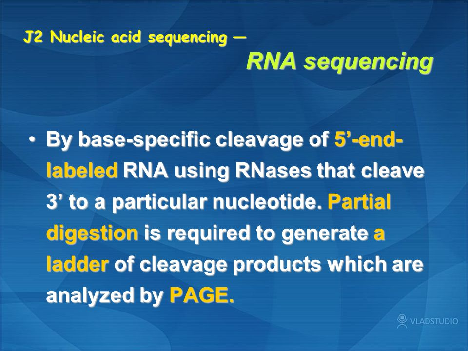 J2 Nucleic acid sequencing — RNA sequencing